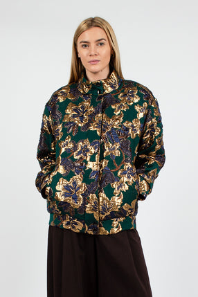 Vandi Bottle Green Floral Jacket