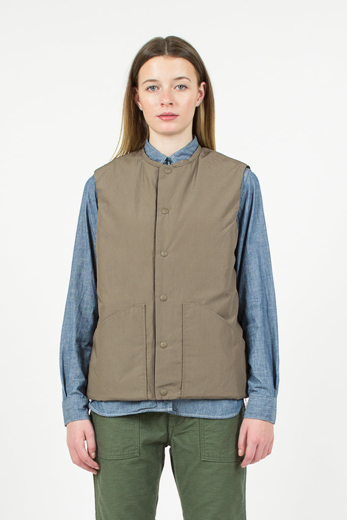 Khaki/Navy Reversible Shell Vest