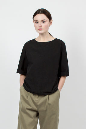Black Washed Cotton Top