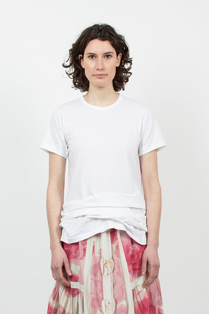 Ruched T-shirt White