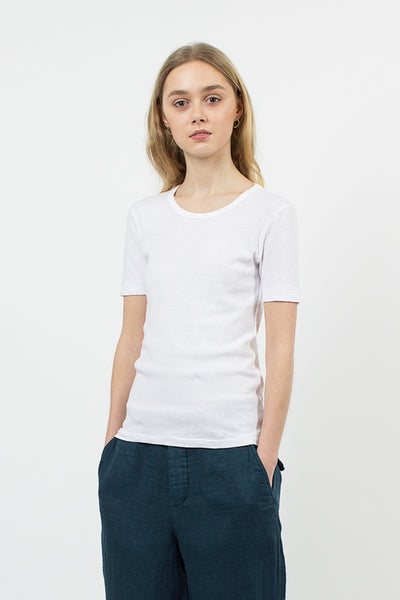Cotton/Linen T-shirt White