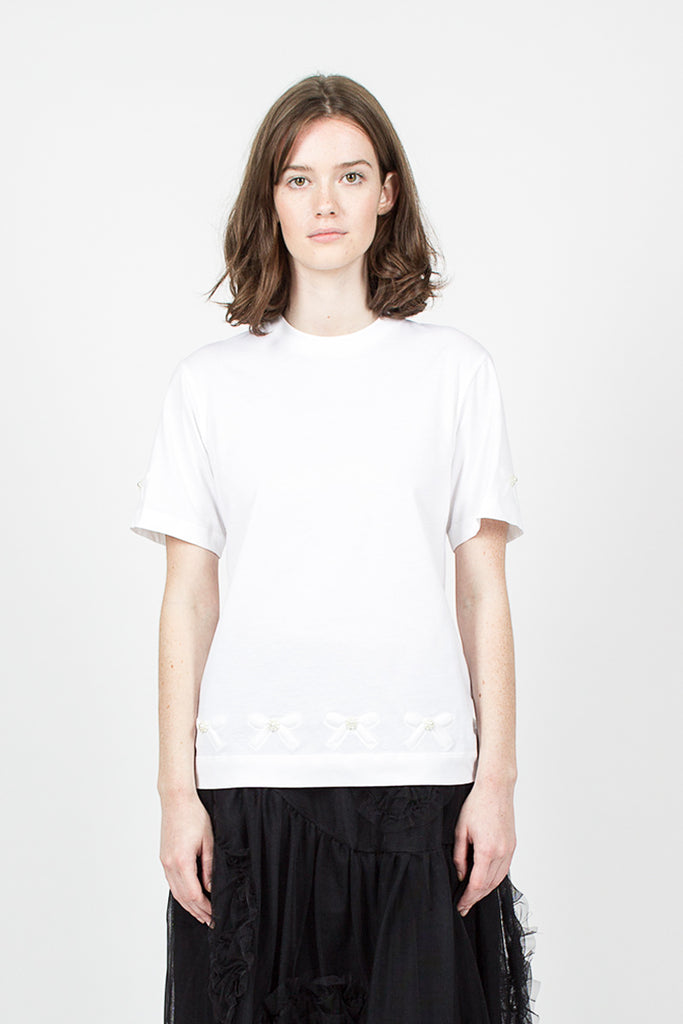 Beaded Bow T-Shirt