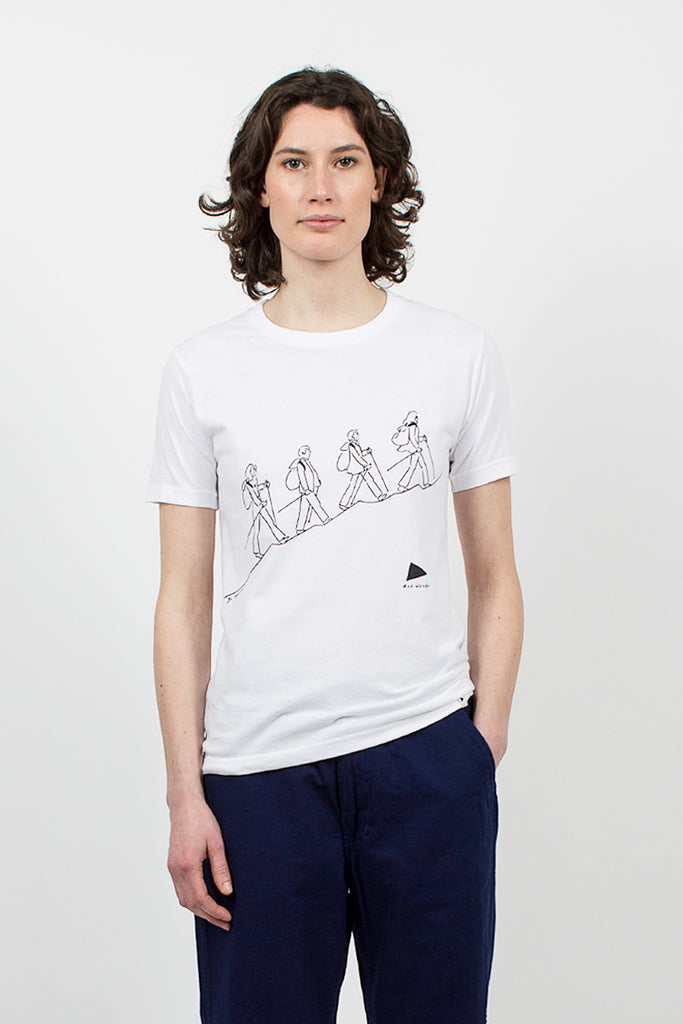 Quarted Print T White