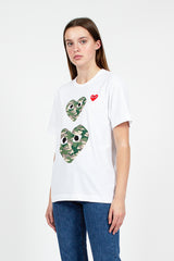 PLAY Camouflage Double Heart T-Shirt
