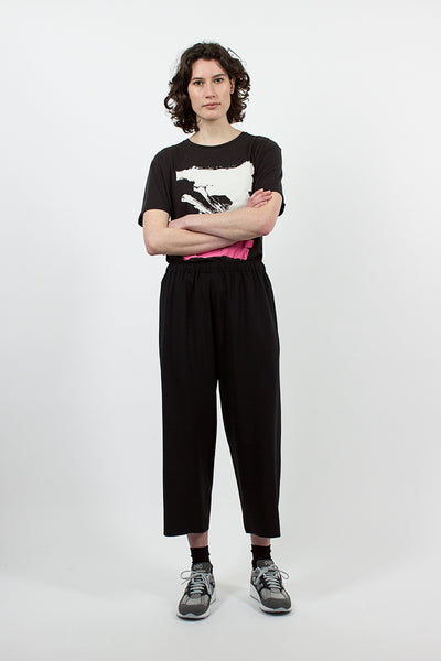 Wide Leg Pull-On Pant Black