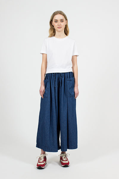 One Wash Denim Culottes