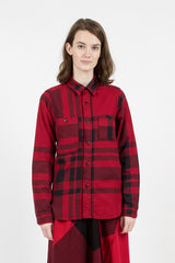 Red/Black Big Plaid Work Shirt