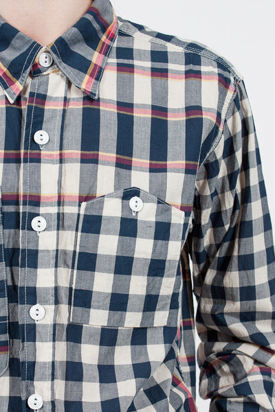 Olive Big Plaid Work Shirt
