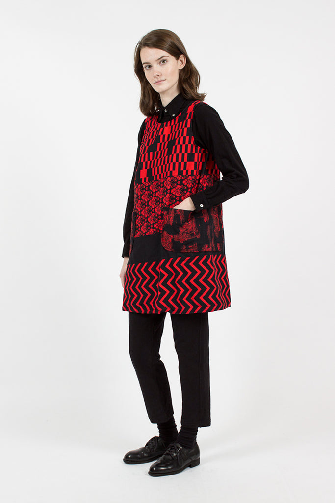 Noma T.D. Print Wrap Smock Red/Black