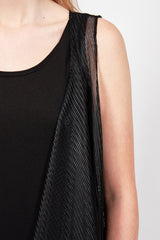 Wrap Daytona Black Mesh Dress