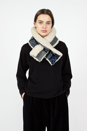 Indigo Fleece Muffler