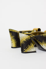 Brocade Mule Black/Yellow