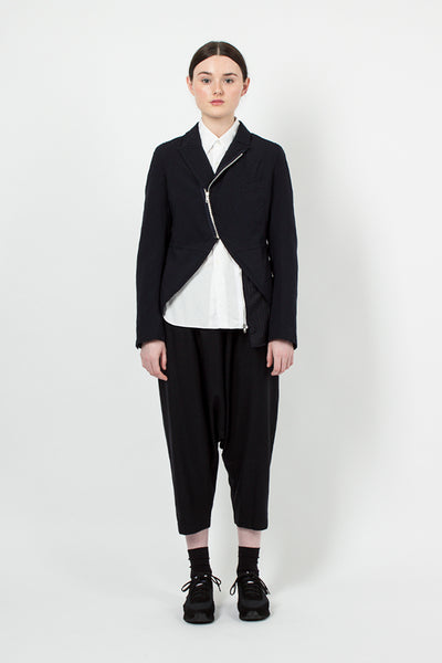 Navy Zip Tail Coat