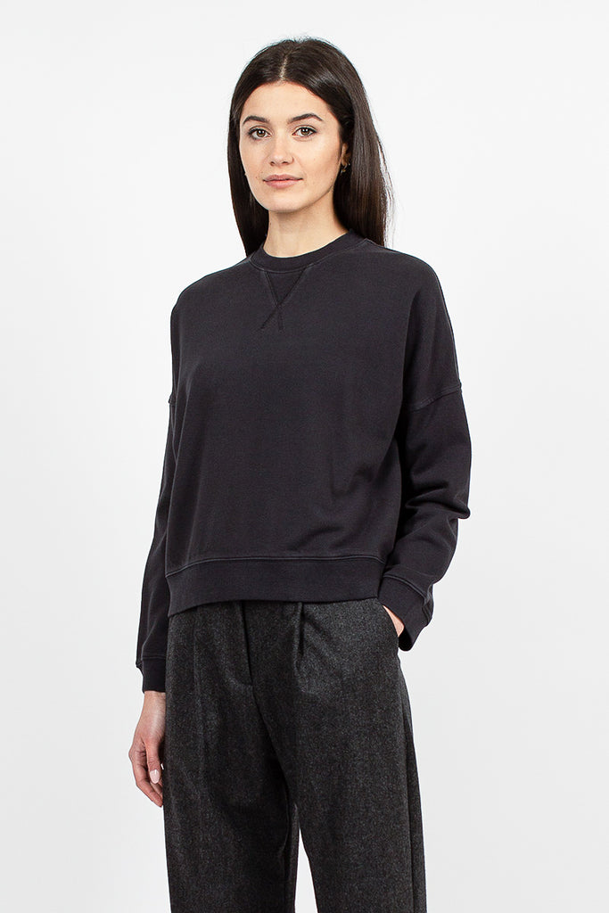 Almost Grown Sweat Black Loopback Cotton