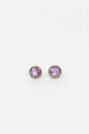 Belquis Silver Stud Earrings