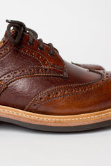 Anne Caramel Derby Brogue