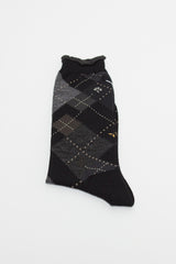 Grey Argyle Sock