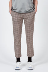 Pink/Army Check Pull-on Trousers