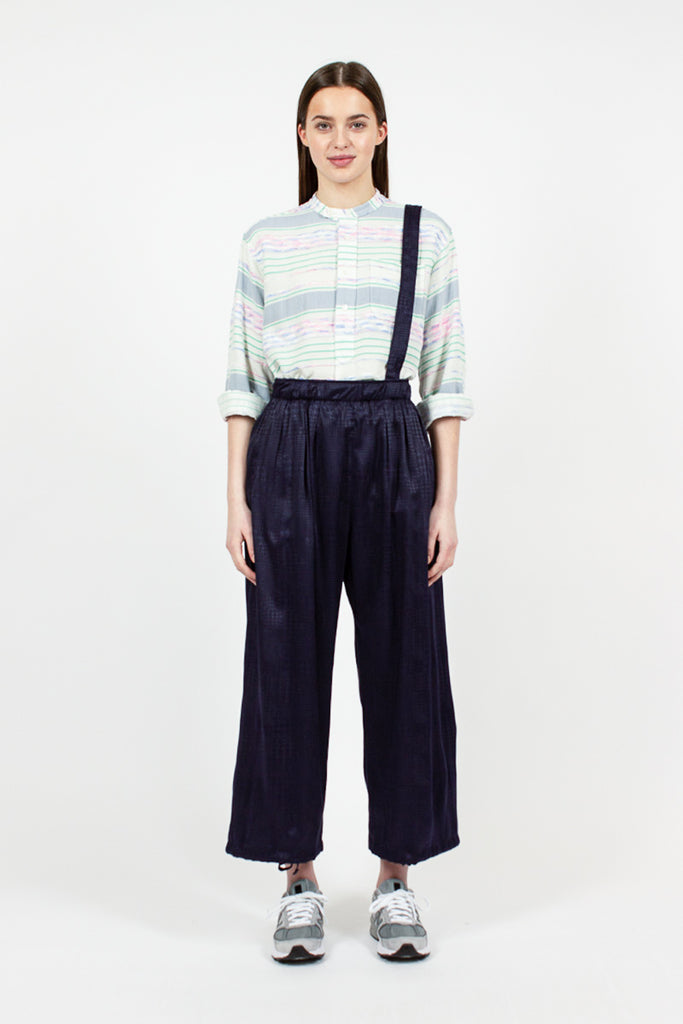 Navy Houndstooth Balloon Pant