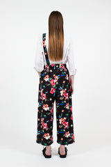 Black Tropical Balloon Pant