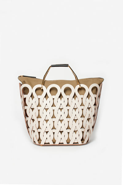Tricot Leather Woven Bag