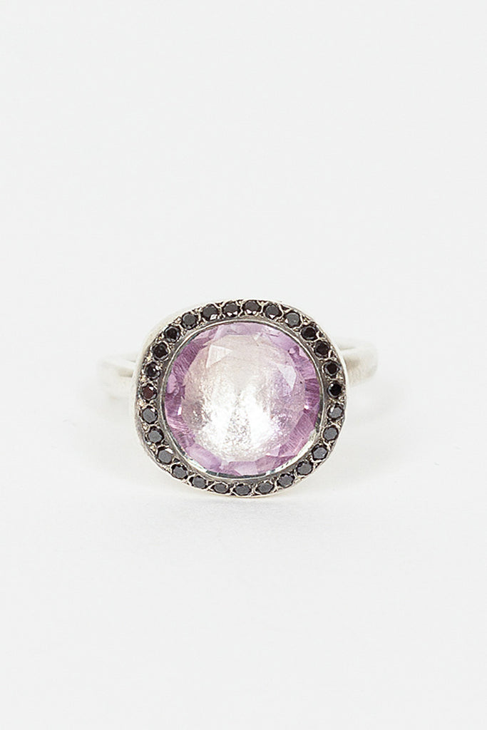 Begum Ametrine/Black Diamond Ring