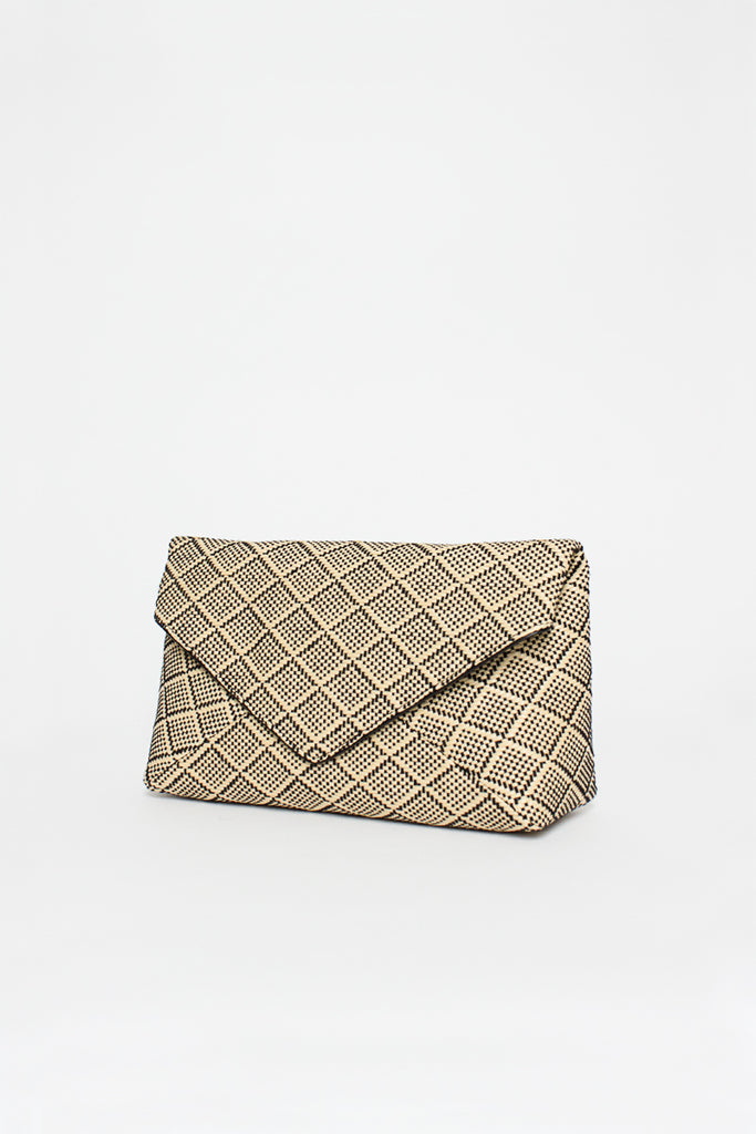Beige Envelope Clutch Bag