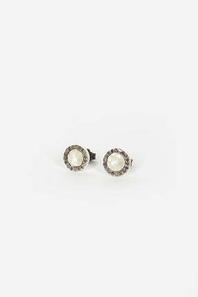 Belquis Quartz Stud Earrings