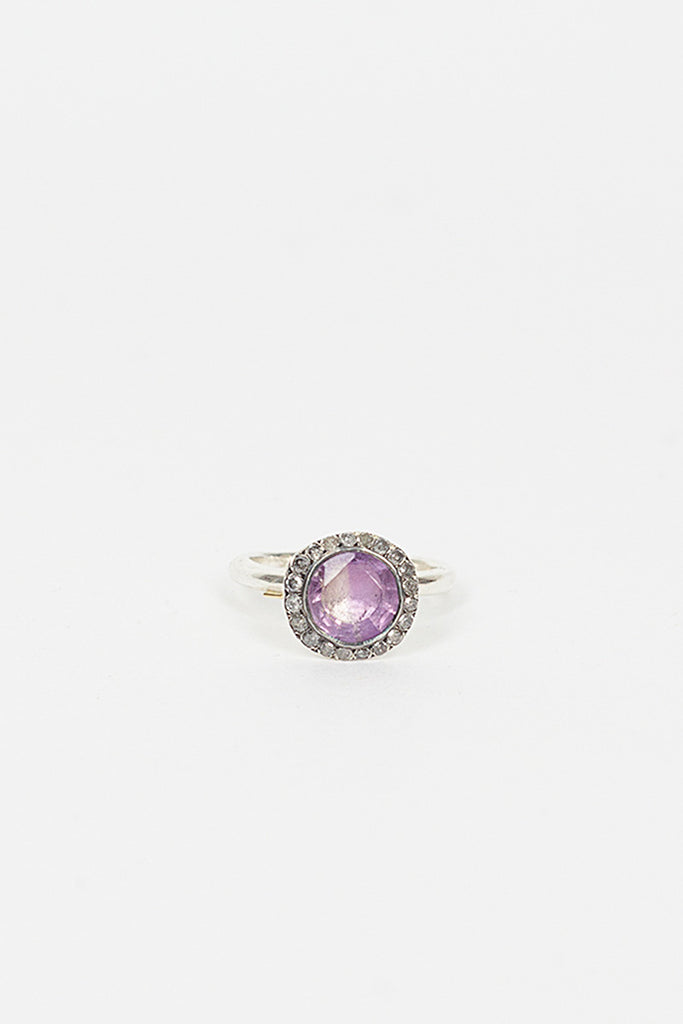 Beril Ametrine/Diamond Ring