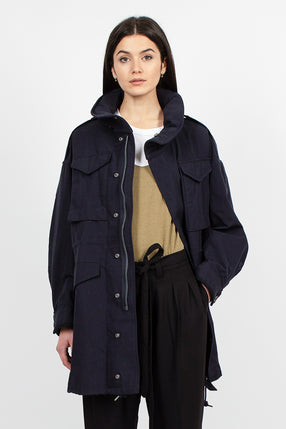 Bickle Gabardine Coat Navy
