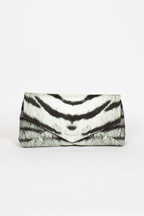 Tiger Print Large Envelope Clutch