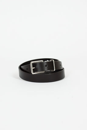 Black Leather Keeper Belt