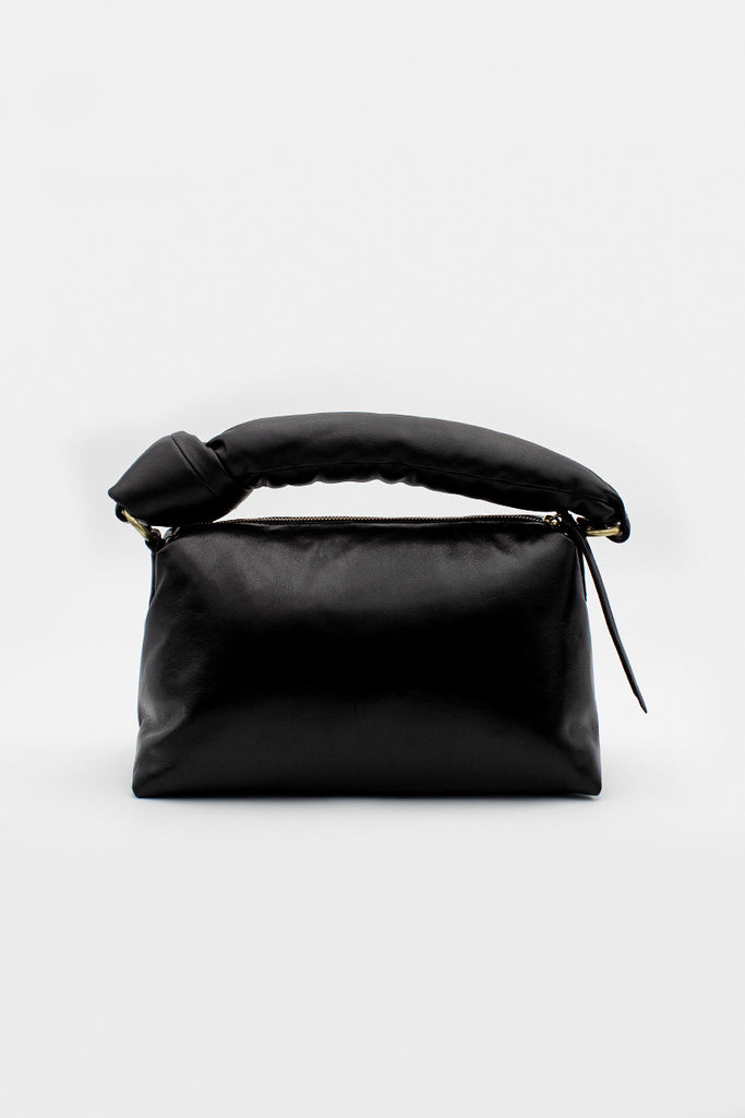 Black Padded Leather Tote