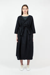 Black Cocoon Cotton Coat