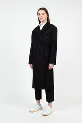 Black Wool Twill Coat