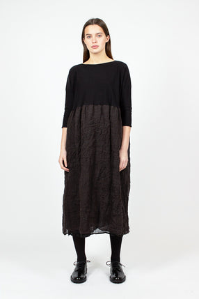 Knit Black/Brown Dress