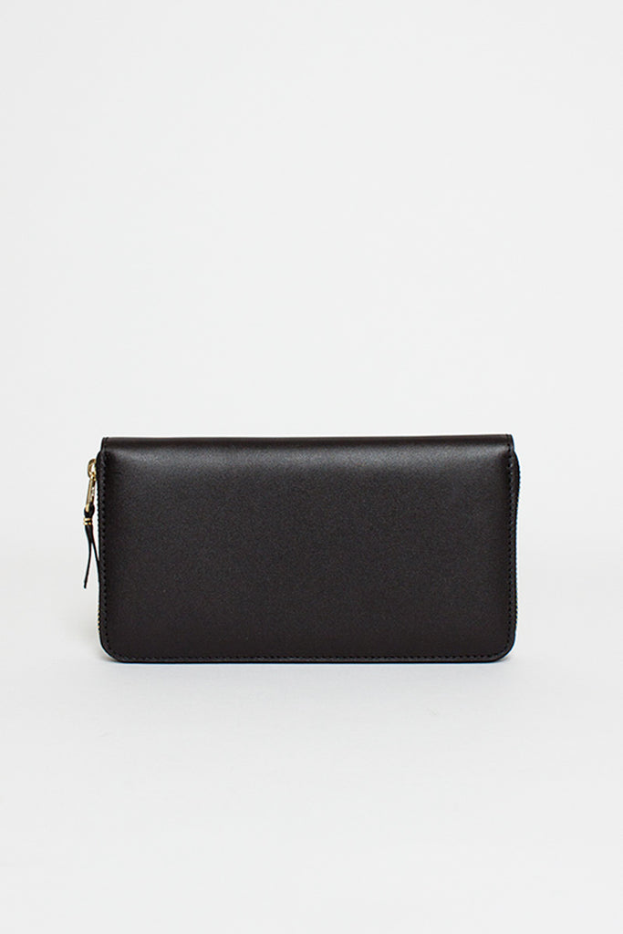 SA0111 Classic Compartment Leather Purse Black