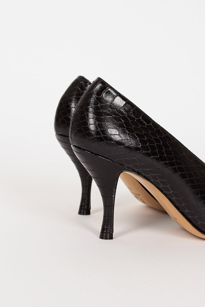 Black Printed Heel