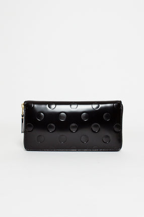 SA0110 Classic Leather Purse Embossed Polka Dots