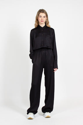 Black Straight Leg Trouser