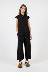 Black Tropical Wool Trouser