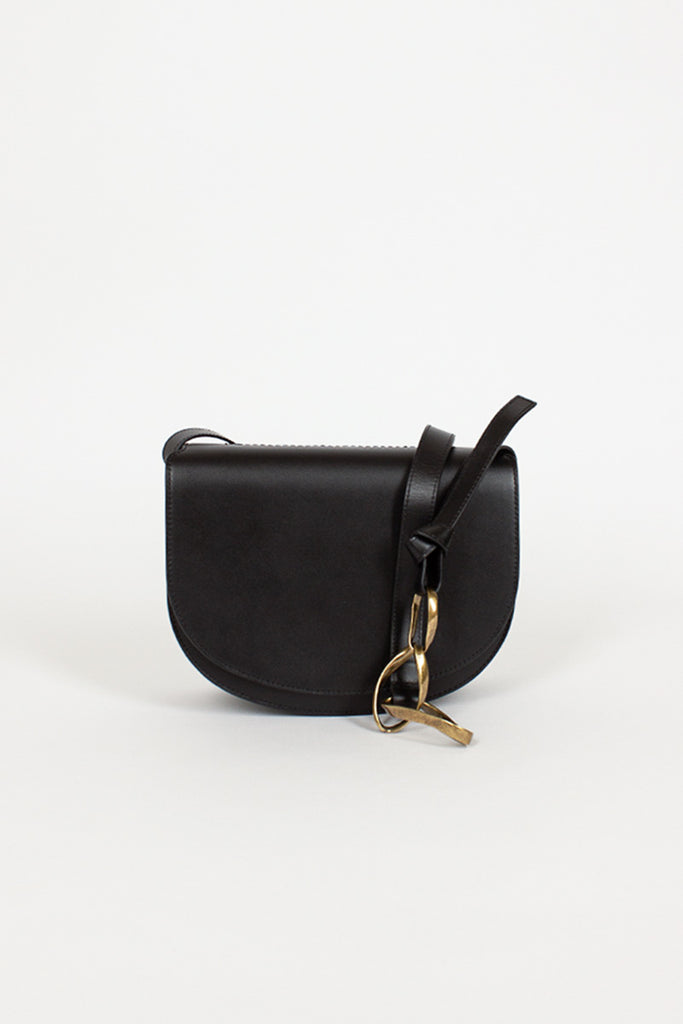 Black Chain Link Box Bag
