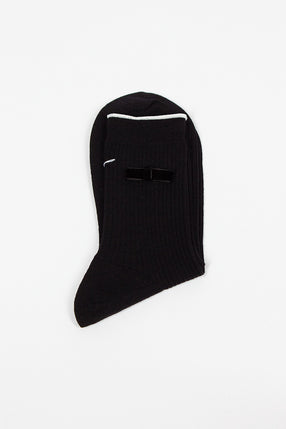 Black Velvet Bow Sock