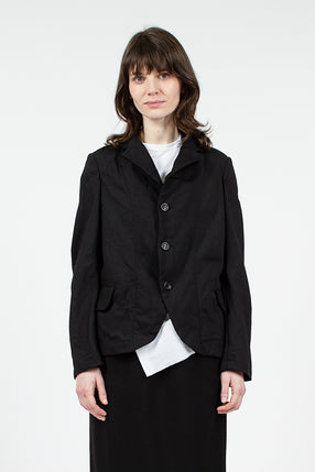 Black Twill Washed Jacket