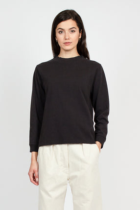MHL Black Wide Neck Matte Jersey Sweater