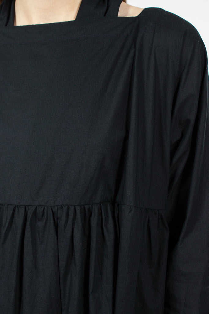Black Pleat Dress