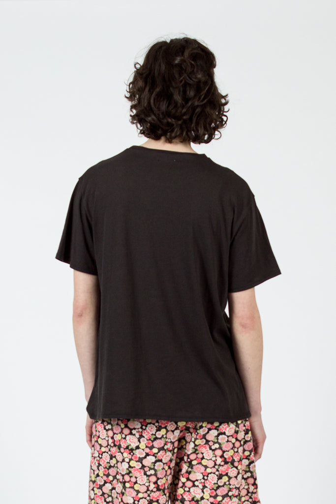 Black Painted '7' Man T