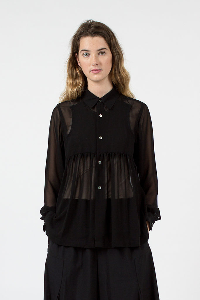 Black Sheer Shirt