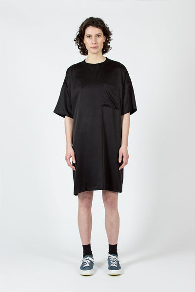 Black Silk T Dress