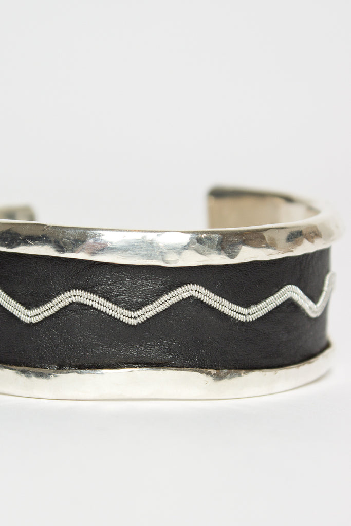 March Black Zig Zag Cuff